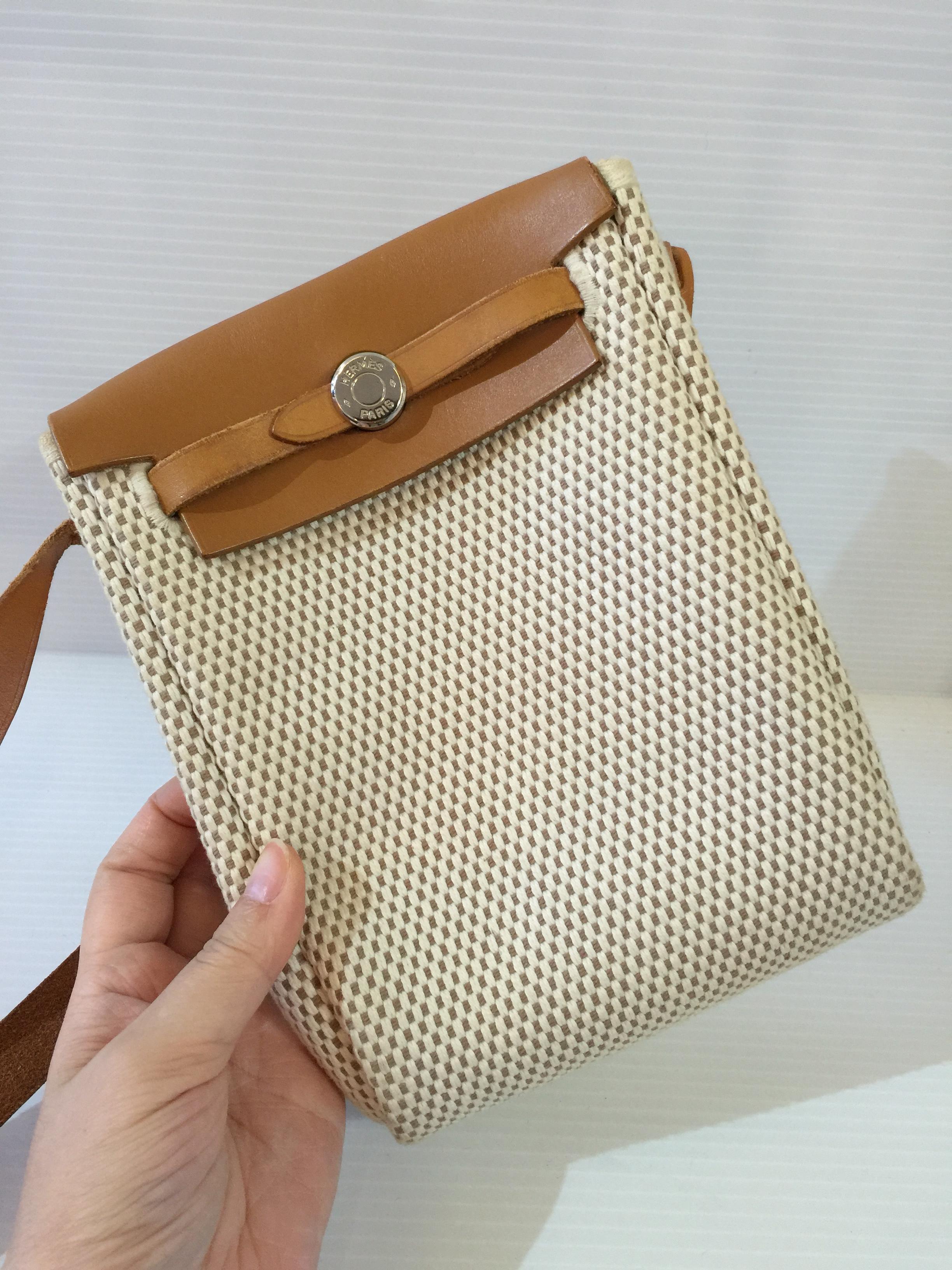SOLDOUT]Used : Hermes Herbag mini Crossbody bag - BAGGU ????????? ...
