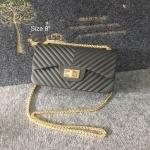 กระเป๋าแฟชั่น สไตล์ชาแนล 8 นิ้ว หนังเมทัลลิคแมต ลอนเฉียง สวยอินเทรนด์ อะไหล่ทอง สายโซ่ทองเพิ่มความหรู สะพายสวยได้ทุกชุด