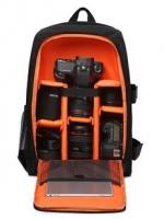 กระเป๋ากล้อง ถ่ายรูป เลนส์ CA003 ดำนอก-ส้ม ด้านใน
