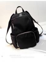 Back pack(กระเป๋าเป้ แฟชั่น สะพายหลัง) BA085 สีดำ พร้อมส่ง