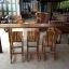 ชุดโต๊ะบาร์ 220 ไม้อะคาเซีย 3 ที่นั่ง thumbnail 5