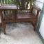 เก้าอี้ไม้ลายพร้อมโต๊ะข้าง thumbnail 2