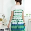ชุดเดรสคลุมท้องผ้าชีฟองลายขวางสีเขียว-ขาว แต่งลูกไม้ที่คอติดโซ่รูปโบว์ thumbnail 4