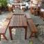 ชุดโต๊ะไม้ระแนงโรงเตี๊ยมจิบชากาแฟ thumbnail 2