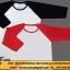 เสื้อไหล่สโลป Slope แขนสามส่วน เสื้อขาว แขนสีดำ thumbnail 2
