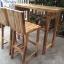 ชุดโต๊ะบาร์เก้าอี้พนักพิงไม้อะคาเซีย thumbnail 4
