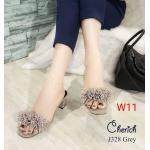 รองเท้าแฟชั่น ส้นสูง แบบสวม แต่งพู่หนังสวยเก๋น่ารัก หนังนิ่ม ใส่สบาย ส้นสูงประมาณ 2.5 นิ้ว แมทสวยได้ทุกชุด (J328)