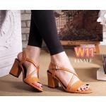 รองเท้าแฟชั่น ส้นสูง รัดส้น แบบสวม สายไขว้ด้านหน้าสวยเก๋ ส้นสูงประมาณ 2.5 นิ้ว ใส่สบาย แมทสวยได้ทุกชุด