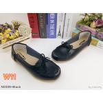 รองเท้าคัทชู ทรง loafer แต่งโบว์น่ารัก หนังนิ่ม พื้นนิ่ม ใส่สบาย แมทสวยได้ทุกชุด (N0339)
