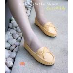 รองเท้าคัทชู ส้นแบน หนังนิ่ม ทรง loafer แต่งโบว์ด้านหน้าสวยเก๋ ทรงสวยเก็บเท้า พื้นบุ นิ่ม ใส่สบาย แมทสวยได้ทุกชุด (C61-016)