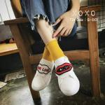 รองเท้าผ้าใบแฟชั่น แต่งลาย love กับปากสวยเก๋สไตล์กุชชี่ วัสดุอย่างดี ทรงสวย ใส่สบาย ใส่เที่ยว ออกกำลังกาย แมทสวยเท่ห์ได้ทุกชุด (G-1101)