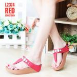 รองเท้าแตะแฟชั่น เพื่อสุขภาพ แบบหนีบ แต่งสร้อยเพชรสวยหรู พื้นซอฟคอมฟอตนิ่ม สไตล์ฟิตฟลอบ ใส่สบาย แมทสวยได้ทุกชุด (L2374)