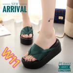 รองเท้าแฟชั่น ส้นมัฟฟิน สไตล์เกาหลี แบบสวม สวยน่ารัก น้ำหนักเบา ใส่สบาย แมทเก๋ได้ทุกชุด (PU6102)