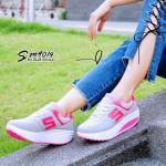รองเท้าผ้าใบแฟชั่น แต่งลายสวยเรียบเก๋สไตล์แบรนด์ เสริมส้นสูง 2 นิ้ว ด้านข้างแต่งอะไหล่ตัว S มีเชือกด้านหน้าปรับกระชับเท้า พื้นด้านนอกเป็นยางกันลื่น ทรงสวย ใส่สบาย ใส่เที่ยว ออกกำลังกาย แมทสวยเท่ห์ได้ทุกชุด (SM9014)