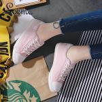 รองเท้าผ้าใบแฟชั่น สวยเก๋เท่ห์ สไตล์แบรนด์ ทรงสวยเพรียว วัสดุอย่างดี ใส่สบาย ใส่ เที่ยว ออกกำลังกาย แมทสวยได้ทุกชุด