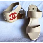 รองเท้าแฟชั่น ส้นเตารีด แบบสวม คาด 2 ตอน แต่ง cc ด้านข้างสไตล์ชาแนล พื้นนิ่ม ใส่สบาย แมทสวยได้ทุกชุด