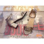 รองเท้าแฟชั่น ส้นสูง รัดข้อ แบบสวม หนังนิ่มอย่างดีแต่งหมุดสวยหรู ส้นแต่งขอบทอง สูงประมาณ 3 นิ้ว เสริมหน้า ใส่สบาย แมทเก๋ได้ทุกชุด (CA9048)