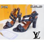 รองเท้าแฟชั่น ส้นสูง แบบสวม รัดส้น คาดหน้าคาดเฉียงแต่งเข็มขัด หนังลายตารางดาเมียร์สไตล์ LV สวยเก๋ หนังนิ่ม ทรงสวย สูงประมาณ 3 นิ้ว ใส่สบาย แมทสวยได้ทุกชุด (P-24)