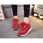 """รองเท้าผ้าใบสนีคเกอร์ collection วัสดุเกรดคุณภาพ AAA วัสดุ nubuck เนื้อเนียนนุ่ม ตัว หนังเป็นเนื้อแมทเกรดดี ตัวรองเท้าด้านในบุฟูกนุ่ม พื้นแบบเสริมซ่อนด้านในอัพเรียวขาให้ดู สูงเพรียวสไตล์สาวเกาหลี 2.5"""" แต่หากต้องการใส่เป็นรองเท้า sport เพื่อการออกกำลั"""