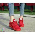 รองเท้าผ้าใบสไตล์เกาหลี เสริมส้น สวยเก๋ ผูกเชือก แต่งดีเทลเท่ๆ หนังสักหลาดหนา กระชับเท้า งานดีมาก ส้นหนา 1.5 นิ้ว แมทเก๋ได้ทุกชุด สีดำ แดง