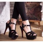 รองเท้าแฟชั่น ส้นสูง รัดส้น คาดหน้าสไตล์อีฟแซงสวยหรู รุ่น hot hit ใส่ได้ตลอด ทรงสวย หนังนิ่ม ส้นสูงประมาณ 5 นิ้ว เสริมหน้า 1 นิ้ว ใส่ง่าย แมทชุดไหนก็เริ่ดหรูดูไฮ