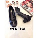 รองเท้าคัทชู ส้นเตี้บ แต่งโบว์สวยเก๋ หนังนิ่มใส่สบาย ส้นประมาณ 2 นิ้ว แมทสวยได้ทุกชุด (CA9204)
