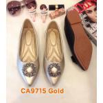 รองเท้าคัทชู ส้นแบน แต่งอะไหล่เพชรสวยหรู ทรงสวย หนังนิ่ม ใส่สบาย แมทสวยได้ทุกชุด (CA9715)