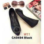รองเท้าคัทชุู ส้นเตารีด แต่งอะไหล่สวยหรู ทรงสวย หนังนิ่ม ส้นประมาณ 2 นิ้ว ใส่สบาย แมทสวยได้ทุกชุด (CA9494)