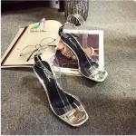 รองเท้าแฟชั่น ส้นตัน ดีไซน์สายคาดซิลิโคนนิ่มไม่บาดเท้า สายรัดข้อ 2 สีถอดเปลี่ยนได้ สีเงินกับแบบซิลิโคนใส แบบตะขอปรับระดับได้ ส้นสูง 3.5 นิ้ว ทรงสวย ใส่ออกงานกลางวันหรือกลางคืนเริ่ดมาก ฮอตฮิตที่สุดในตอนนี้