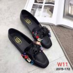 รองเท้าคัทชู ส้นแบน แต่งโบว์ซาตินใหญ่ประดับพลอยหลากสีสวยหรูน่ารัก ทรงสวย หนังนิ่ม ใส่สบาย แมทสวยได้ทุกชุด (2015-172)