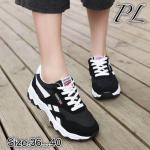 รองเท้าผ้าใบแฟชั่น วัสดุอย่างดีแต่งลายสไตล์แบรนด์สวยเท่ห์ ใส่สบาย ใส่เที่ยว ออกกำลังกาย แมทสวยเท่ห์ได้ทุกชุด