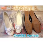 รองเท้าคัทชู ส้นแบน แต่งช่อกุหลาบสวยหวาน ทรงสวย หนังนิ่ม ใส่สบาย แมทสวยได้ทุกชุด (CA9083)
