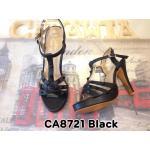 รองเท้าแฟชั่น ส้นสูง รัดข้อ แต่งหมุดสไตล์วาเลนติโนสวยยเก๋ หนังนิ่มอย่างดี ส้นสูง ประมาณ 5 นิ้ว เสริมหน้า 1 นิ้ว ใส่สบาย แมทสวยได้ทุกชุด (CA8721)