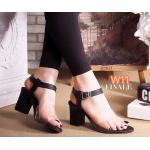 รองเท้าแฟชั่น ส้นสูง รัดส้น คาดหน้าพลาสติกใสนิ่มสวยเก๋ ทรงสวย ใส่สบาย ส้นตัดสูงประมาณ 2.5 นิ้ว แมทสวยเท่ห์ได้ทุกชุด