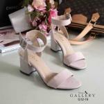 รองเท้าแฟชั่น ส้นสูง แบบสวม รัดข้อ สไตล์ ZARA หนังสักหราดสวยเรียบหรู ทรงสวย โชว์เท้า ส้นตัดสูง 2 นิ้ว ใส่สบาย แมทสวยได้ทุกชุด (G12-19)