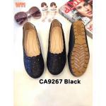 รองเท้าคัทชู ส้นแบน แต่งฉลุลายสวยเก๋ ทรงสวย หนังนิ่ม ใส่สบาย แมทสวยได้ทุกชุด (CA9267)