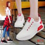 รองเท้าผ้าใบแฟชั่น สวยเท่ห์สไตล์แบรนด์ วัสดุอย่างดี ทรงสวย ใส่สบาย ใส่เที่ยว ออกกำลังกาย แมทสวยเท่ห์ได้ทุกชุด (6605)