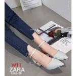 รองเท้าคัทชู ส้นสูง รัดข้อ หนังกลิสเตอร์วิ้งสวยหรู หนังนิ่ม ทรงสวย ส้นสูงประมาณ 3 นิ้ว ใส่สบาย แมทสวยได้ทุกชุด (8363-28)