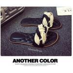 รองเท้าแตะแฟชั่น สวยหรู นำเข้า สานหน้าผ้าโครเชถักมุข งานสไตล์ Chanel ใส่ชิวก็ยังไฮโซ สีดำ