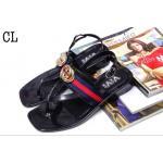 รองเท้าแตะแฟชั่น รัดส้น สวยเก๋ แต่งอะไหล่ทอง GG และผ้าแถบสีสไตล์กุชชี่เก๋มาก สายรัดส้นปรับระดับได้ ใส่สบาย มทเก๋ได้ทุกวัน (CL)