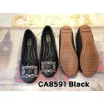 รองเท้าคัทชู ส้นแบน หนังนิ่ม แต่งอะไหล่เพชรสไตล์แบรนด์สวยหรู ทรงหัวมนไม่บีบเท้า พื้นบุนิ่ม ส้นเตารีด พื้นยางกันลื่น เดินง่าย ใส่สบาย แมทสวยได้ทุกชุด ทุกโอกาส (CA8591)
