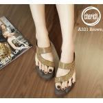 รองเท้าแตะแฟชั่น เพื่อสุขภาพ แบบสวมนิ้วโป้งคาดเฉียง แต่งเพชรคลิสตัลสวยวิ้ง พื้นโซฟานิ่มใส่สบาย แมทสวยได้ทุกชุด (A321)