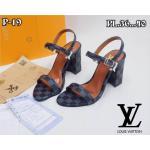 รองเท้าแฟชั่น ส้นสูง แบบสวม รัดส้น หนังลายตารางดาเมียร์สไตล์ LV สวยเรียบเก๋ หนังนิ่ม ทรงสวย ส้นตัดสูงประมาณ 3.5 นิ้ว ใส่สบาย แมทสวยได้ทุกชุด (P-19)