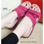 รองเท้าแตะแฟชั่น Fitness Sandals เพื่อสุขภาพ แบบสวม สวยเก๋ ส้นยาง PVC อย่างดีหนาประมาณ 2 cm. ด้านบนเป็นการเย็บหนัง เข้ากับผ้าซาตินสีสวย ใส่แล้วขับผิว สวยดูดี ใส่สบาย สีดำ น้ำตาล ส้ม ชมพู ฟ้า (1093)