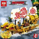 เลโก้จีน LEPIN.03062 ชุด Ninja Go Movie เรือมังกรทอง
