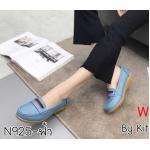 รองเท้าคัทชู ทรง loafer แต่งแถบด้านหน้าสวยเรียบเก๋ หนังนิ่ม พื้นนิ่ม พื้นยางนิ่มยืดหยุ่น ใส่สบาย แมทสวยได้ทุกชุด (N925)
