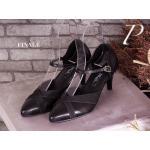 รองเท้าคัทชู ZARA style ทรงสวมหัวแหลมหนังอย่างดี ใส่นิ่ม บุรองพื้นนิ่ม ใส่สบาย ทรงสวยแต่งหนัง 2-tone เพิ่มเก๋ด้วยสายคาดเส้นอะไหล่ทองใส่ดูดี เก็บหุ้มเท้า สวยคุ้มเกินราคา สูง 2.5 นิ้ว