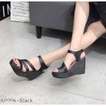 รองเท้าแฟชั่น ส้นเตารีด แบบสวม รัดส้น คาดหน้าเฉียบเก็บหน้าเท้า ทรงสวย ส้นสูงประมาณ 4 นิ้ว ใส่สบาย แมทสวยได้ทุกชุด (KP994)