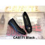 รองเท้าคัทชู ส้นเตี้ย ทรงสวย แต่งลายปักรอบและอะไหล่สวยหรู พื้นนิ่ม ใส่สบาย แมทสวยได้ทุกชุด (CA8171)