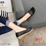 รองเท้าคัทชู ทรง loafer แต่งอะไหล่ด้านหน้าสวยเรียบเก๋ หนังนิ่ม พื้นนิ่ม พื้นยางนิ่มยืดหยุ่น ใส่สบาย แมทสวยได้ทุกชุด (N129)